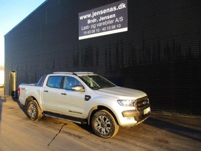 Ford Ranger 3000kg 3,2 TDCi Wildtrak 4x4 200HK DobKab 6g Aut. 2018<br/>Km: 6000