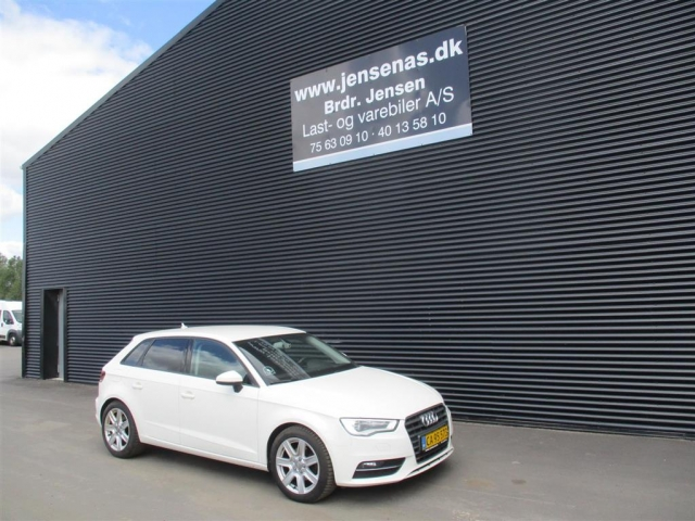 Audi A3 Sportback 2,0 TDI Sport S Tronic 150HK Van 6g Aut. 2014<br/>Km: 114000