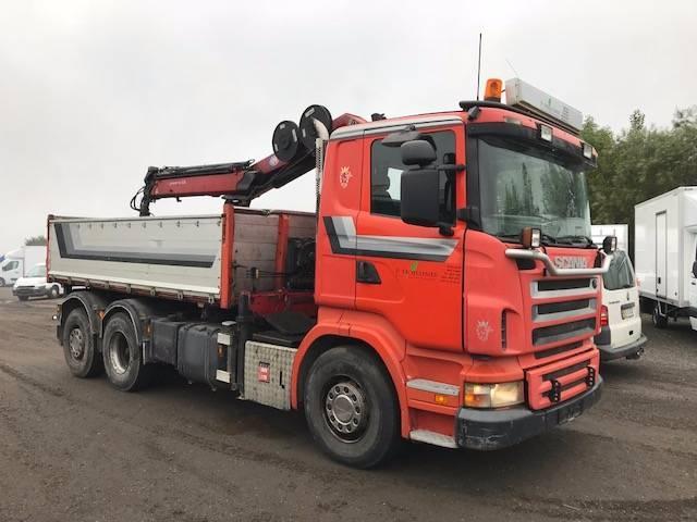 Scania R420 6X2 3-VEJS TIP / KRAN M/ GRAB 2005<br/>  Km: 507.000